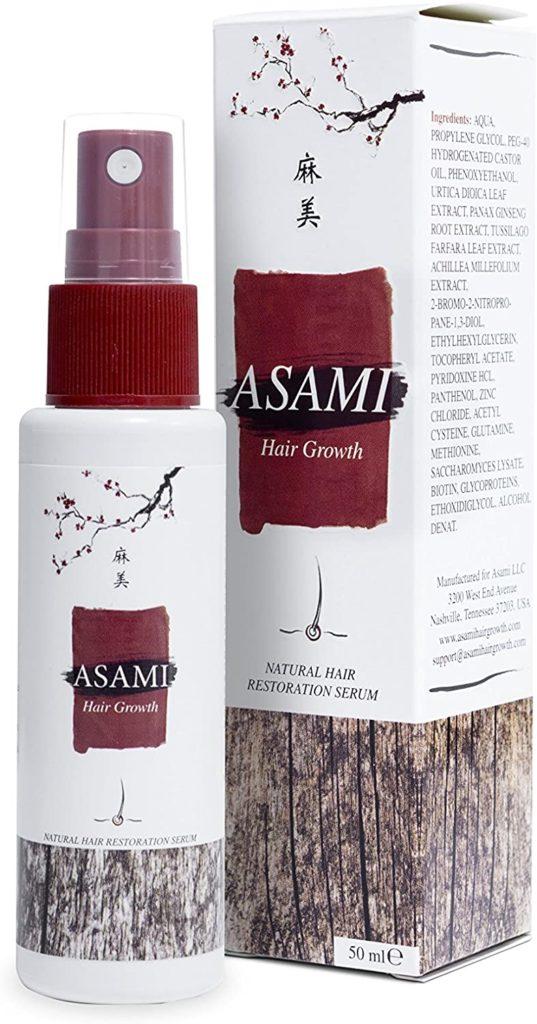 aplicação asami hair growth